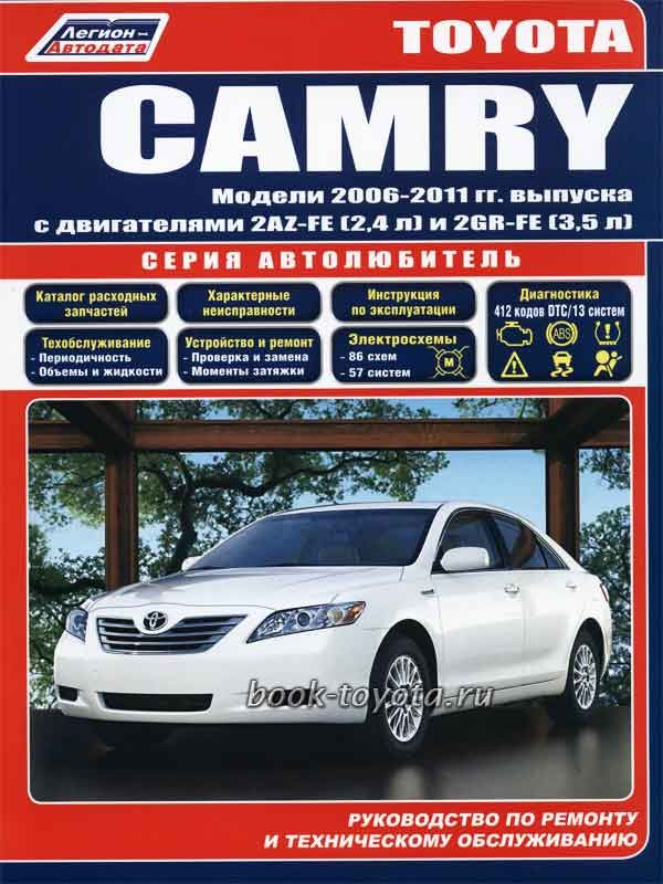 Руководство по ремонту и эксплуатации toyota camry 2006