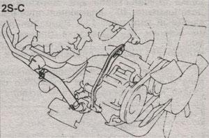 Болт опоры воздушного насоса Toyota Camry