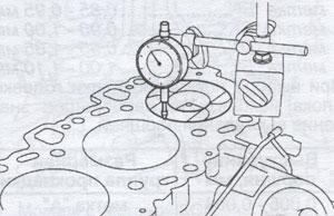 днище поршня двигателя Toyota