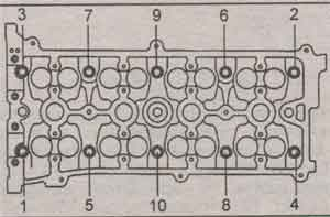 головка блока цилиндров Toyota Camry