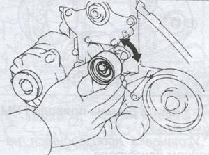 Кронштейн-натяжного-ролика-Toyota Carina E