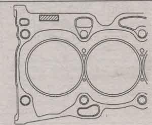 метка прокладки Toyota Camry