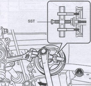 передний сальник коленвала Toyota Rav4