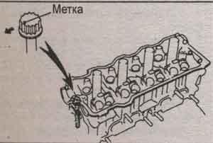 положение болтов блока цилиндров Toyota Mark II, положение болтов блока цилиндров Toyota Chaser, положение болтов блока цилиндров Toyota Cresta
