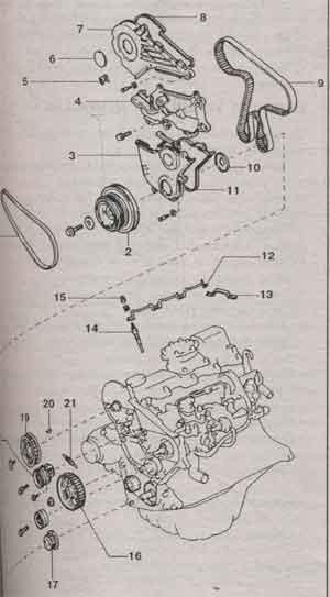 привод распредвала Toyota Corolla