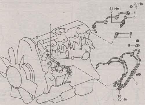 топливный шланг Toyota (Тойота) 2L