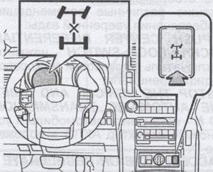 включение трансмиссии Toyota Land Cruiser Prado