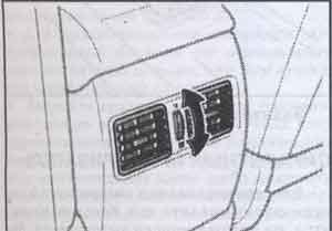 задние вентиляционные отверстия Toyota Camry, задние вентиляционные отверстия Toyota Solara