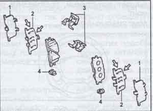 задняя тормозная колодка Toyota Camry