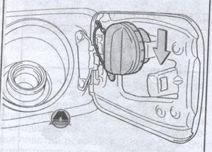 заливная горловина Toyota Land Cruiser 200