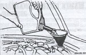 залив жидкости в радиатор Toyota Camry