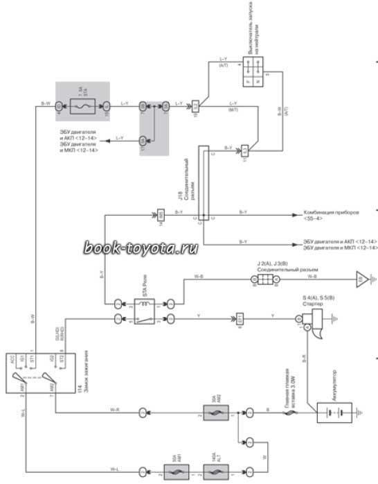 Электро схема тойота корса.